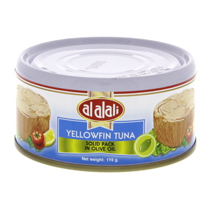 Al Alali Yellowfin Tuna Solid Pack In Olive Oil 170g