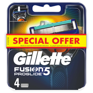 Gillette Fusion ProGlide Manual Replacement Blades 4pcs