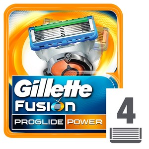 Gillette Fusion ProGlide Power Men's Razor Blade Refills, 4 Count