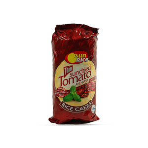 Sun Rice Thin Sun Dried Tomato And Basil Flavoured Rice Cakes 195g