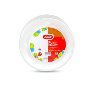 Lulu Foam Plate 3 Compartment 9inch 25pcs