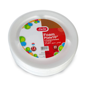 Lulu Foam Plate 3 Compartment 10inch 25pcs