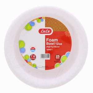 Lulu Foam Bowl 12oz 25pcs