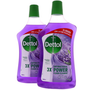 Dettol Antibacterial Power Floor Cleaner Lavender 2 x 900ml