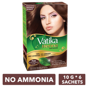 Dabur Vatika Henna Hair Colour Natural Brown 4 - 60g