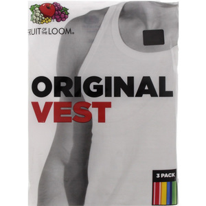 Fruit Of The Loom Mens Vest 3 Piece Extra Large