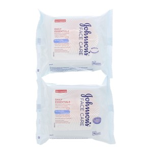 Johnson's Daily Essentials Moisturising Cleansing Wipes 25pcs x 2