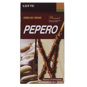Lotte Peppero Biscuit Peanut & Chocolate 36g