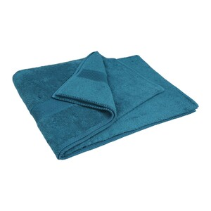 Laura Collection Bath Towel Turquoise Size: W90 x L150cm