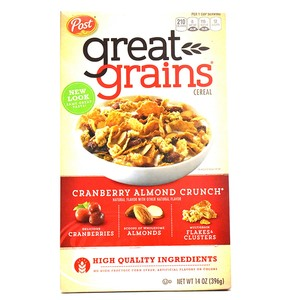 Post Great Grains Cranberry Almond Crunch Cereal 396g