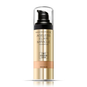 Max Factor Ageless Elixir 2 in 1 Liquid Foundation + Serum 80 Bronze 30ml