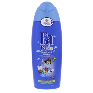 Fa Kids Shower Gel and Shampoo Wild Ocean Scent 250ml
