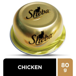 Sheba Fine Cuts with Chicken Domes Cat Food 80g