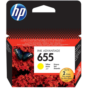 HP 655 Yellow Ink Cartridge CZ112AE