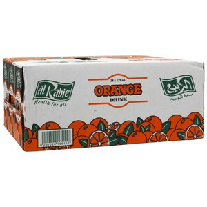 Al Rabie Orange Drink 18 x 125ml