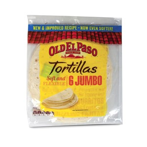 Old El Paso Jumbo Tortillas Wraps 450g