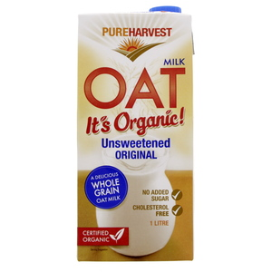 Pure Harvest Organic Whole Grain Oat milk 1Litre