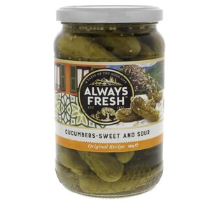 Always Fresh Cucumbers Sweet And Sour 680g