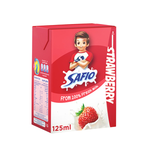 Safio UHT Milk Strawberry Flavor 125ml