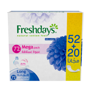 Freshdays Daily Liners Long 72pcs