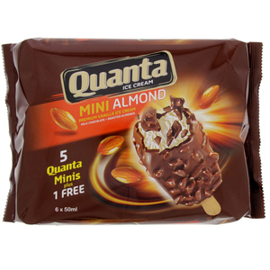 Quanta Ice Cream Mini Almond 6 X 50ml