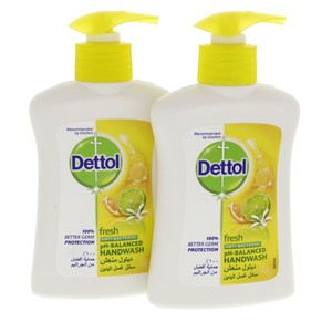 Dettol Liquid Hand wash Fresh Anti bacterial PH Balanced 200ml x 2