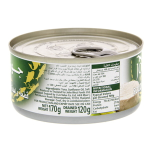 John West White Meat Tuna Solid In Sunflower Oil 170g