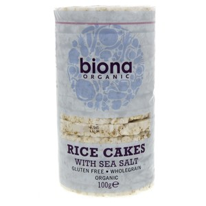 Biona Organic Rice Cakes With Seasalt 100g