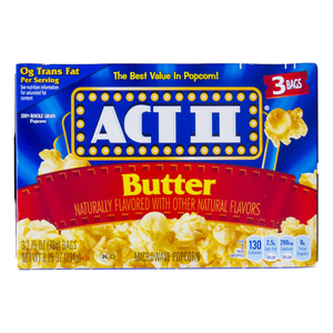 Act II Butter Flavour Microwave Popcorn 234g