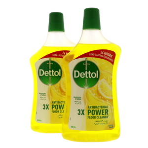 Dettol Power Antibacterial Floor Cleaner Lemon 2 x 900ml