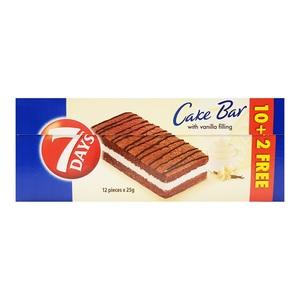 7 Days Cake Bar Vanilla 12 x 25g