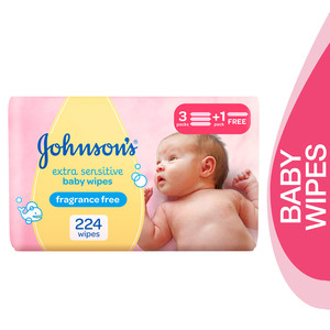 Johnson's Baby Wipes Extra Sensitive 4 x 56pcs