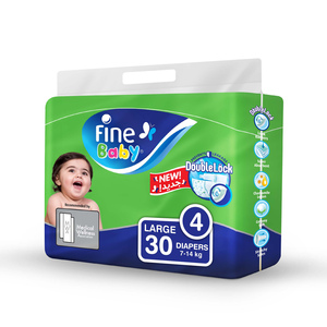 Fine Baby Diapers Size 4 Large 7-14kg 30pcs