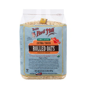 Bob's Red Mill Organic Extra Thick Whole Grain Rolled Oats 907g