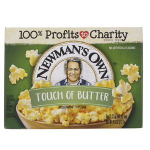 New Man's Own Touch Of Butter Flavor Microwave Pop Corn 298g