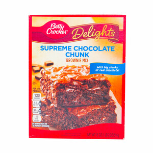 Betty Crocker Delights Supreme Chocolate Chunks Brownie Mix 510g