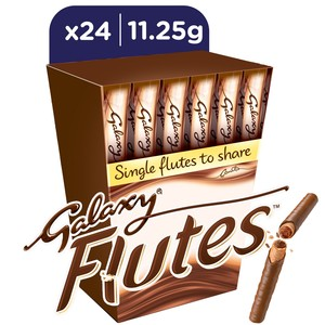 Galaxy Flutes Chocolate Twin Fingers 11.25g x 24pcs