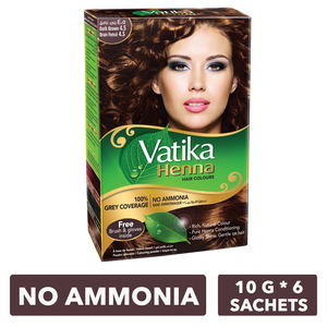 Dabur Vatika Henna Hair Color Dark Brown 60g
