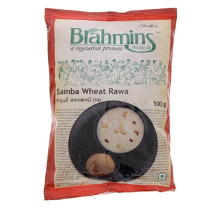 Brahmins Samba Wheat Rava 500 Gm