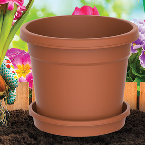 Cosmoplast Flower Pot 10inch Assorted Colors