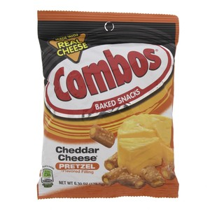 Combos Baked Snacks Cheddar Cheese Pretzel 178.6g