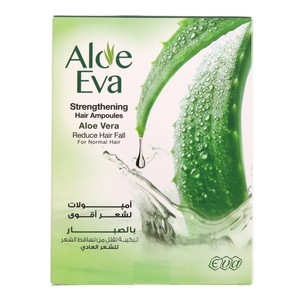 Aloe Eva Strangthening Hair Ampoules Reduce Hair Fall 4 x 15ml