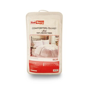 Red Berry Duvet Comforter Single 160x220cm White Color