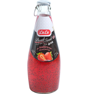 Lulu Basil Seed Drink Strawberry 290ml
