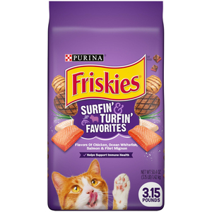 Purina Friskies Surfin' & Turfin' Favourites Cat Dry Food 1.42kg