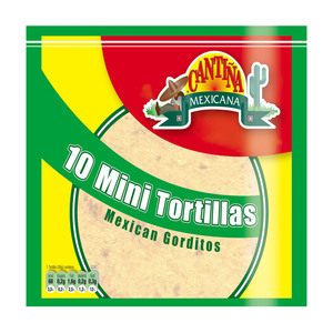 Cantiña Mexicana 10 Mini Tortillas 280g