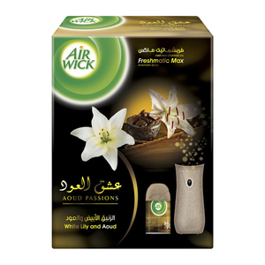 Air Wick Freshmatic Gadget + White Lily & Aoud 250 Ml