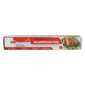 Lulu Multipurpose Aluminium Foil Size 23.25m x 30cm 75sq.ft 1pc