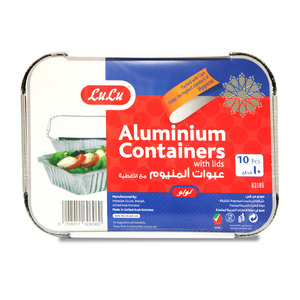 Lulu Aluminium Containers With Lids 10pcs