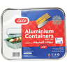 Lulu Aluminium Containers With Lids 5Pcs